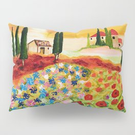Tuscan Field of Poppies Pillow Sham