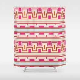 Aztec tribal style pattern Shower Curtain
