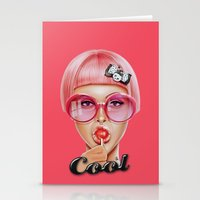 hot Stationery Cards featuring Cool Redux by Giulio Rossi