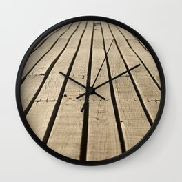 wood path Wall Clock