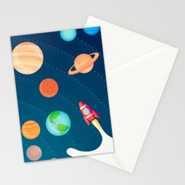 Space Foam Stationery Cards