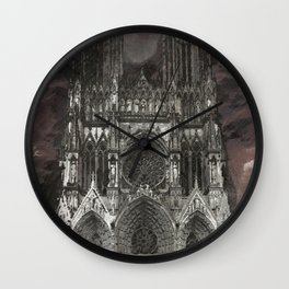 Cathedral Storm Wall Clock