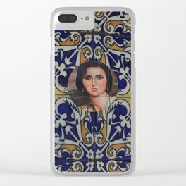 Spain 46 - Woman in Madrid with mosaic on the wall Clear iPhone Case