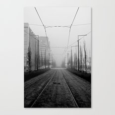 Foggy tramtracks Canvas Print