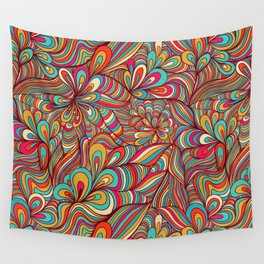 Digital waves Wall Tapestry