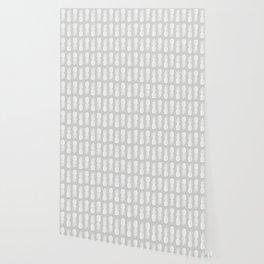 Pineapple Pattern | Gray | Minimalism | Tropical Print Wallpaper