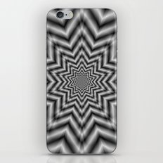 Optically Challenging Star in Black and White iPhone & iPod Skin