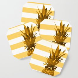 Pineapple with yellow stripes - summer feeling Coaster