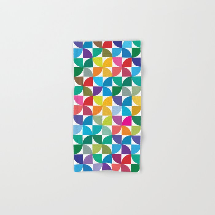 Geometrical work - Colours rotation Hand & Bath Towel