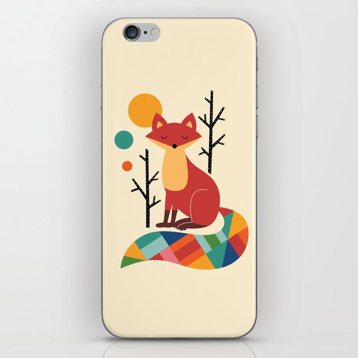 Rainbow Fox iPhone Skin