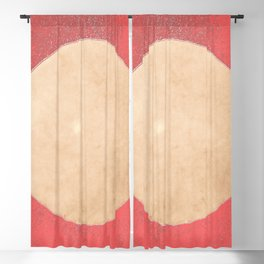 Imperial Coral - Moon Minimalism Blackout Curtain