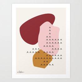 Big Shapes / Mountains Art Print