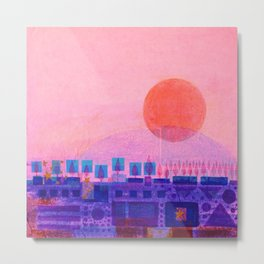 Sunset over Sienna Metal Print