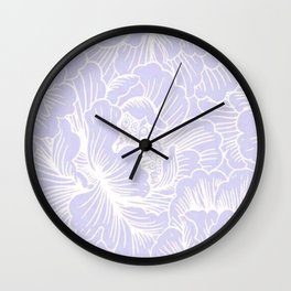 Lavender Floral Wall Clock