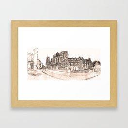 York Minster in Pen and tint Framed Art Print