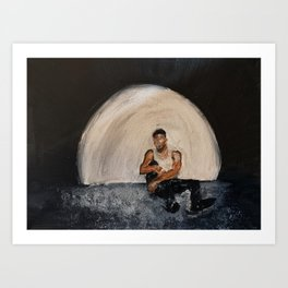 Giveon,album,take time,oil painting,small canvas,art,original,poster,fan art,cool,dope,wall decor,ab Art Print
