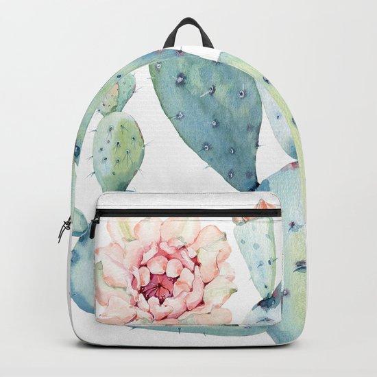 Cactus 2  White #society6 #buyart Backpack
