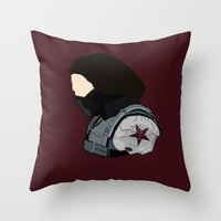 bucky Throw Pillows featuring Bucky by Swell Dame