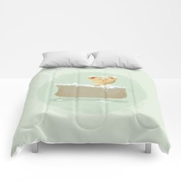 Teddy Bear in Bathtub  Comforters
