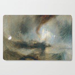 """J.M.W. Turner """"Snow Storm - Steam-Boat off a Harbour's Mouth"""" Cutting Board"""
