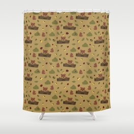 Bears and Beetles  Shower Curtain