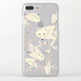 Wolves of The world: Artic Wolf (Canis lupus arctos) (c) 2017 Clear iPhone Case