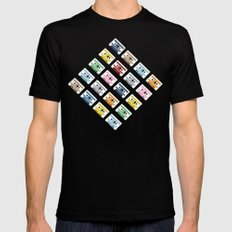 Rainbow Tapes 45 MEDIUM Black Mens Fitted Tee