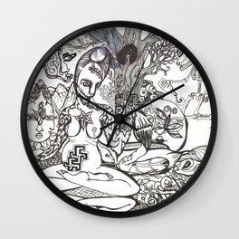 Bison Yogini ~ Fertility Wall Clock