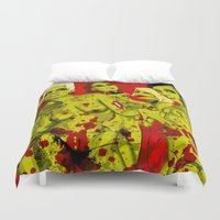 zombies Duvet Covers featuring SEXY ZOMBIES by Thomas B.- Rock Artwork