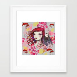 Red Owl Gal Framed Art Print