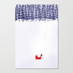 Alone in the forest Canvas Print