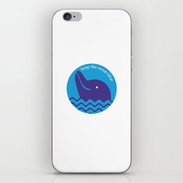 Keep the Ocean Blue iPhone Skin
