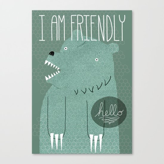 Friendly Bear Canvas Print