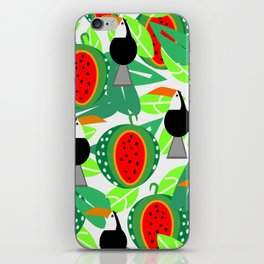 Toucans and watermelons iPhone Skin