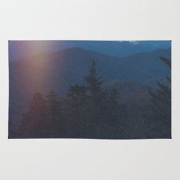 Sunrise in Smoky Mountains National Park Rug