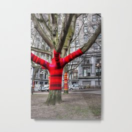 Warm Seattle trees Metal Print