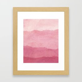 Ombre Waves in Pink Framed Art Print