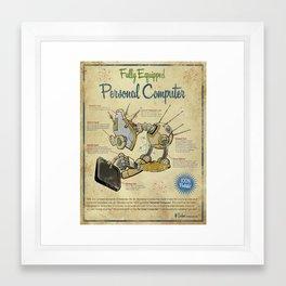 Retro Personal Computer Framed Art Print