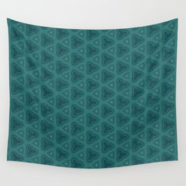 Dark Teal Textured Pattern Design Wall Tapestry