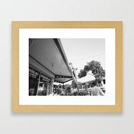Barber - Black Framed Art Print