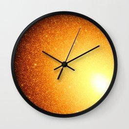 Copper Stars Ombre Wall Clock