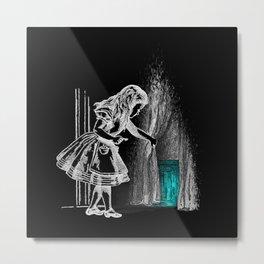 Follow The White Rabbit II Metal Print