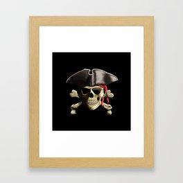 The Jolly Roger Pirate Skull Framed Art Print