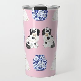 Staffordshire Dogs + Ginger Jars No. 4 Travel Mug