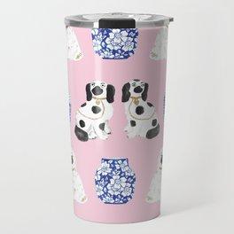 Staffordshire Dogs + Ginger Jars No. 4 Travel Mug