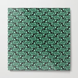 Fish Tails Oceanic Cool Mint Green Turquoise Green Bubbles Abstract Spirit Organic Metal Print