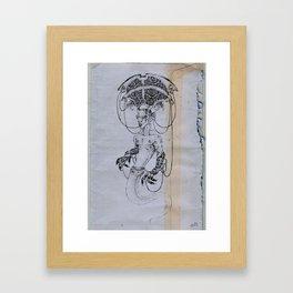 jinn with texture Framed Art Print