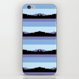 Abstract mountains horizons 2 iPhone Skin