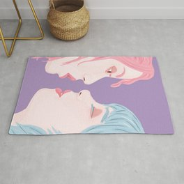 Pride Love is Love Women Kiss Rug