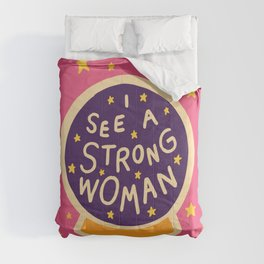 I see a strong woman Comforters